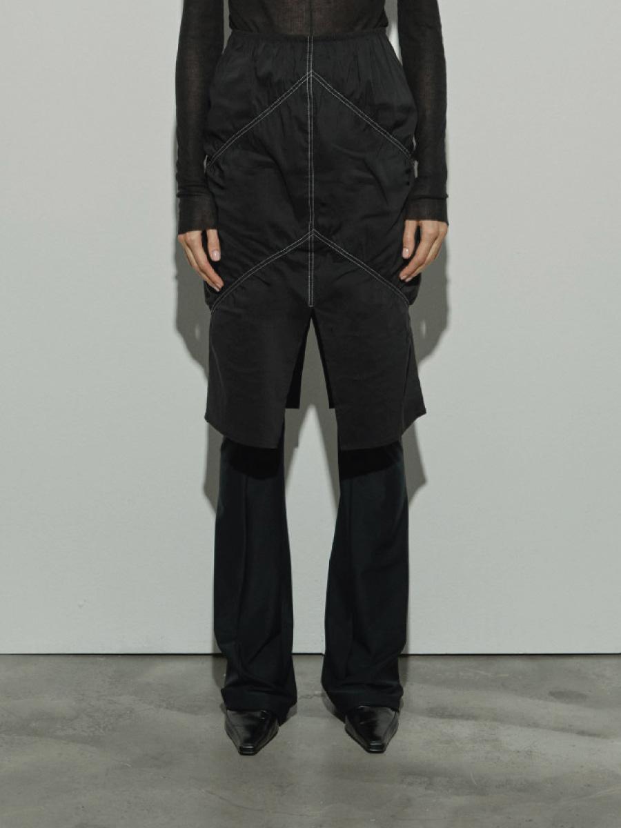 Shirring Skirts (Black)