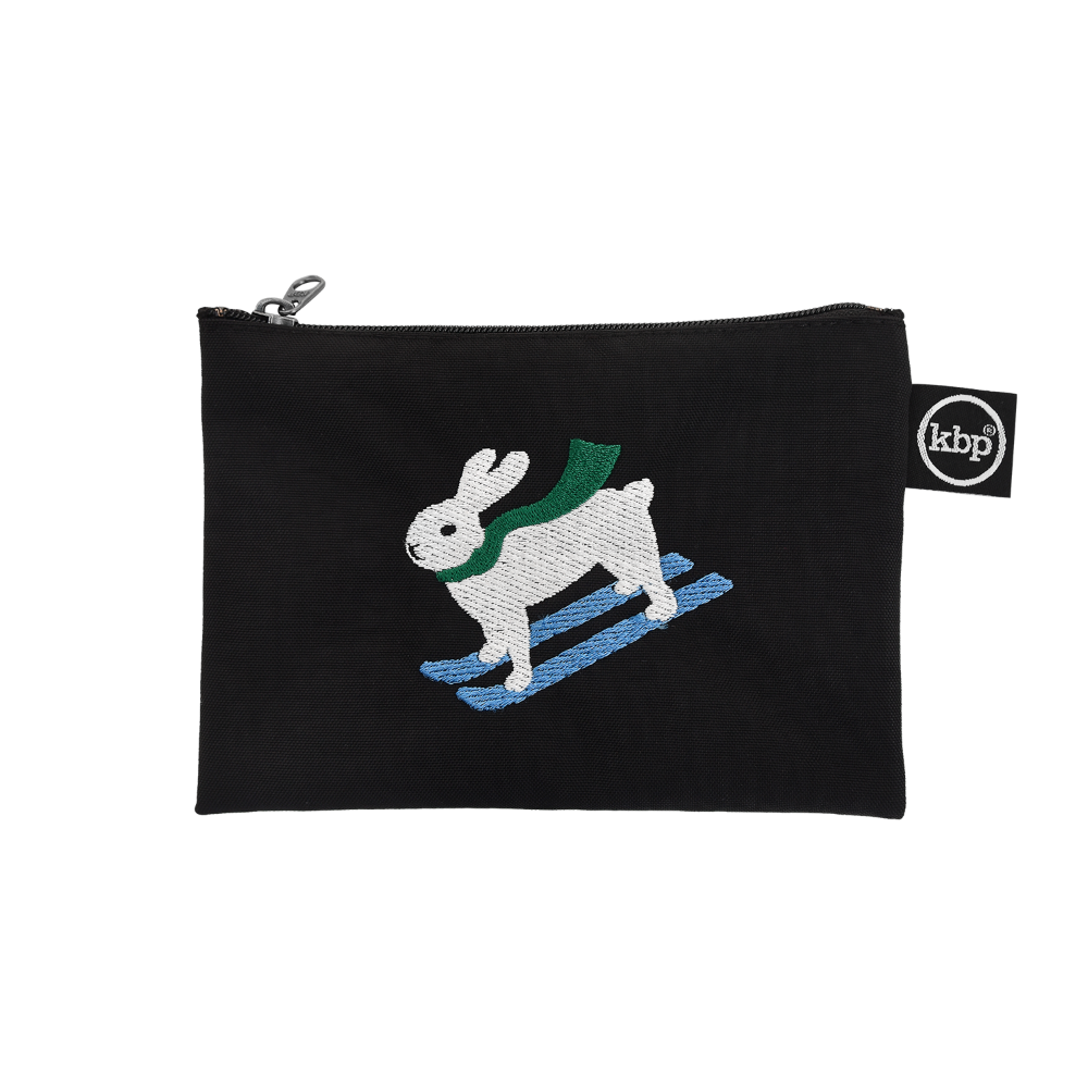 Skiing Bunny Pouch