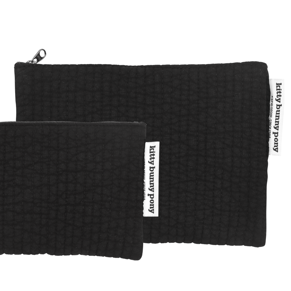 Quilting Black Pouch