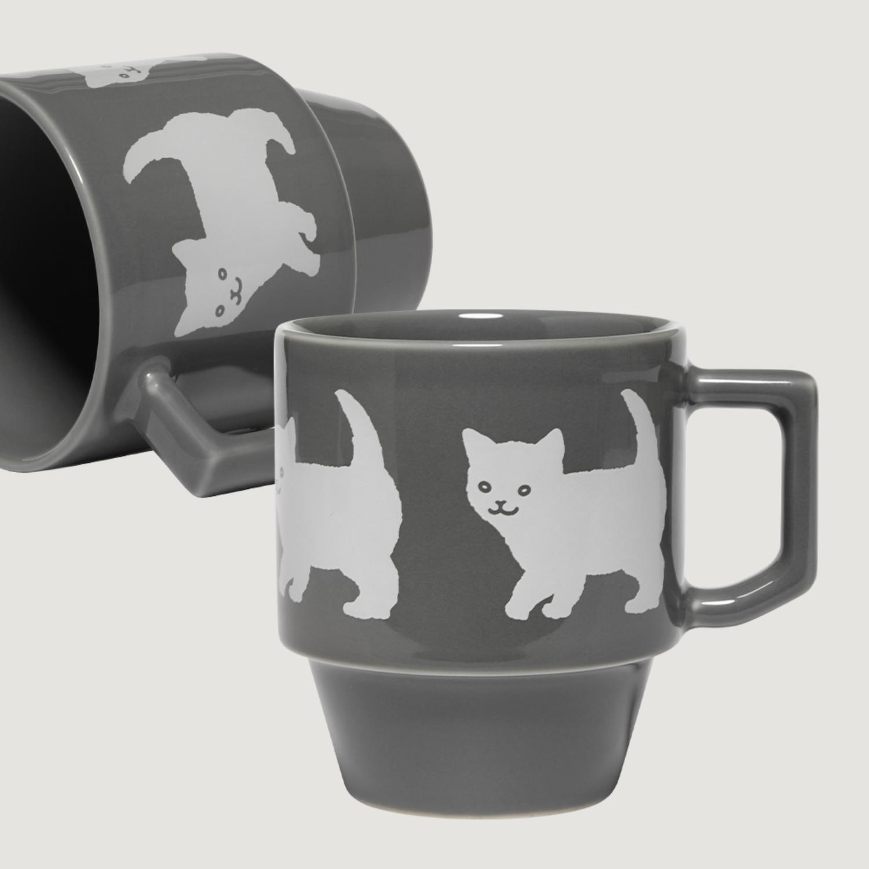 Happy Kitty Block Mug by Hasami