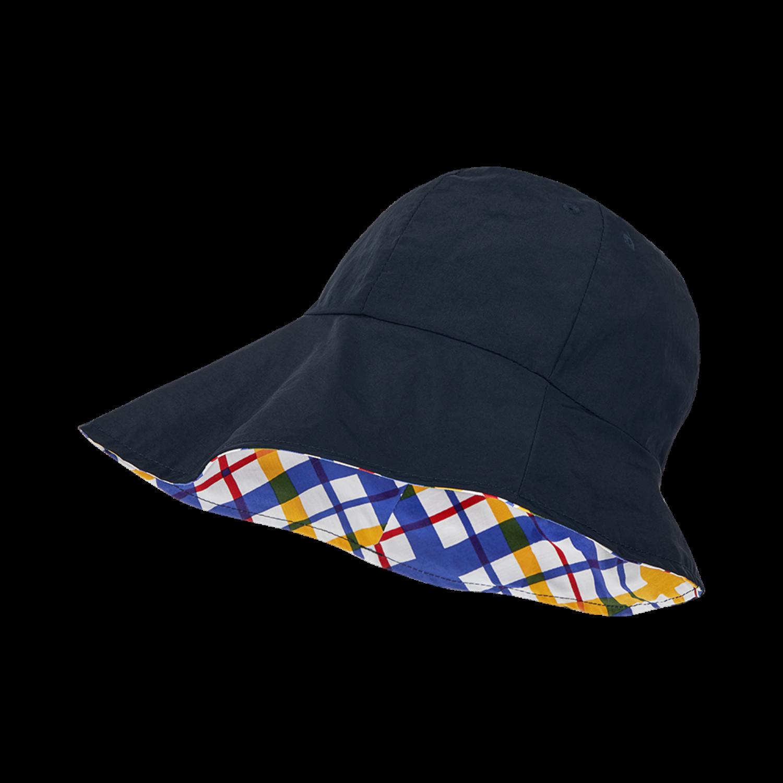 Neo Madras Bucket Hat Navy