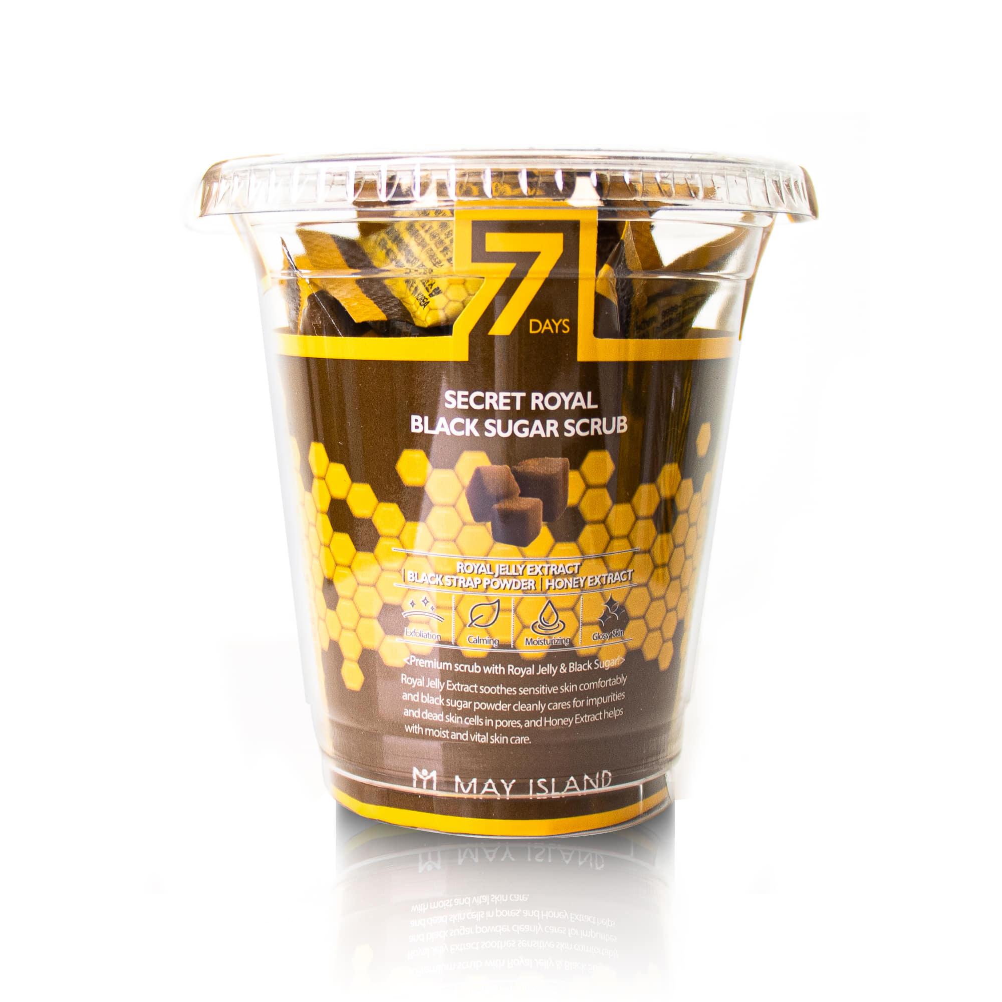 7데이즈 시크릿 로열 흑설탕 스크럽