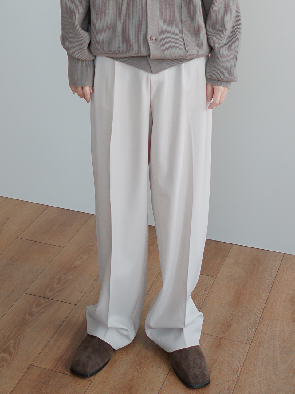 Stay Half Banding Trousers (2color)
