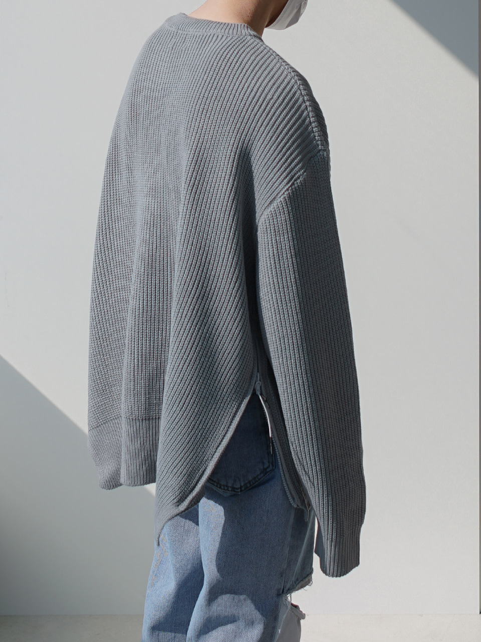 Tail Side Zip Knit (2color)