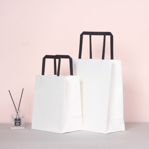 5개1세트 흰색세로형쇼핑백(소,중) T1