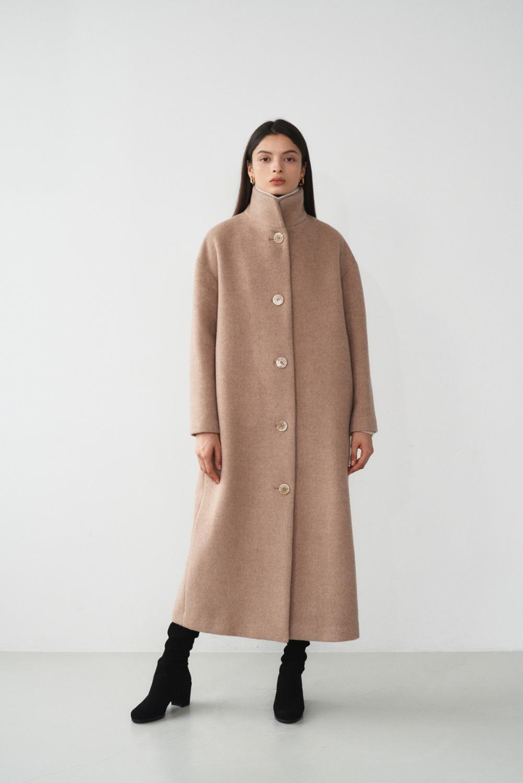 Ann High-neck Coat