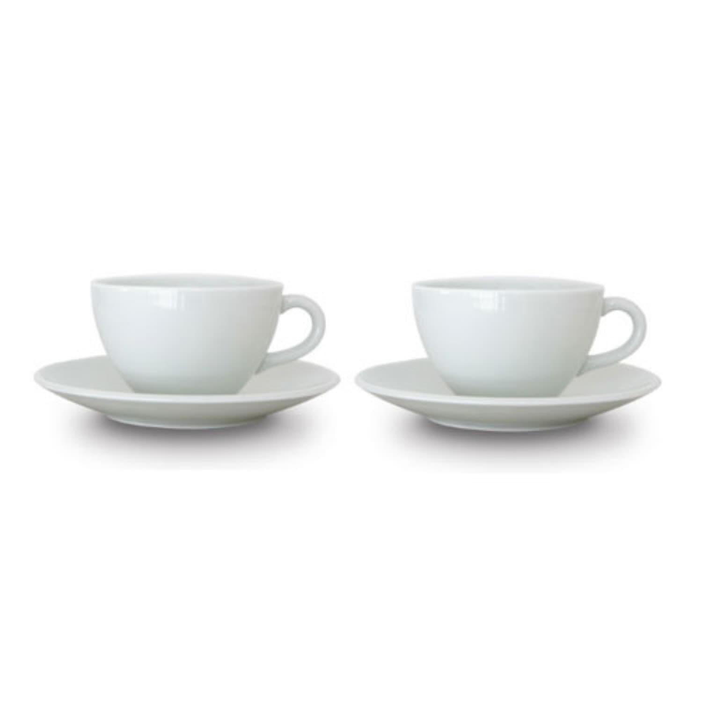 백자 수라인 커피잔 2조 세트 (4p)+패키지