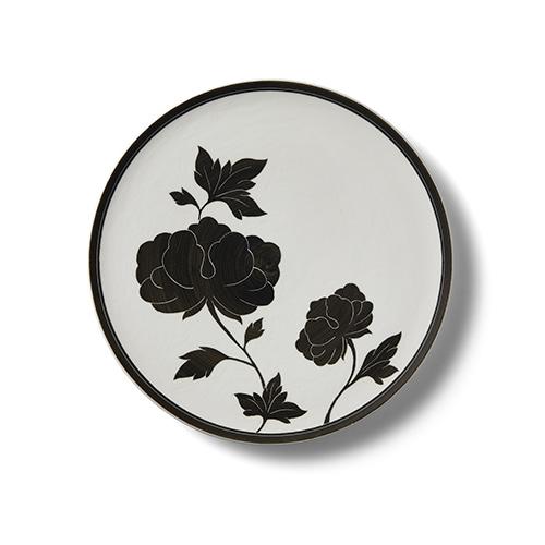 KwangJuyo Heritage MokDan Dessert Plate 22 (Black)