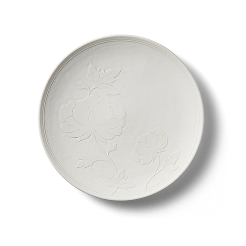 헤리티지 목단 백白 디저트접시 22+오동나무 케이스