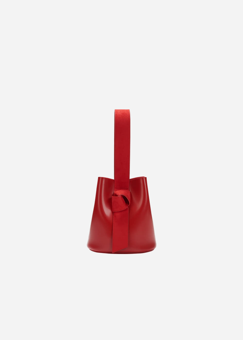 Micro Suede Knot Bucket Red