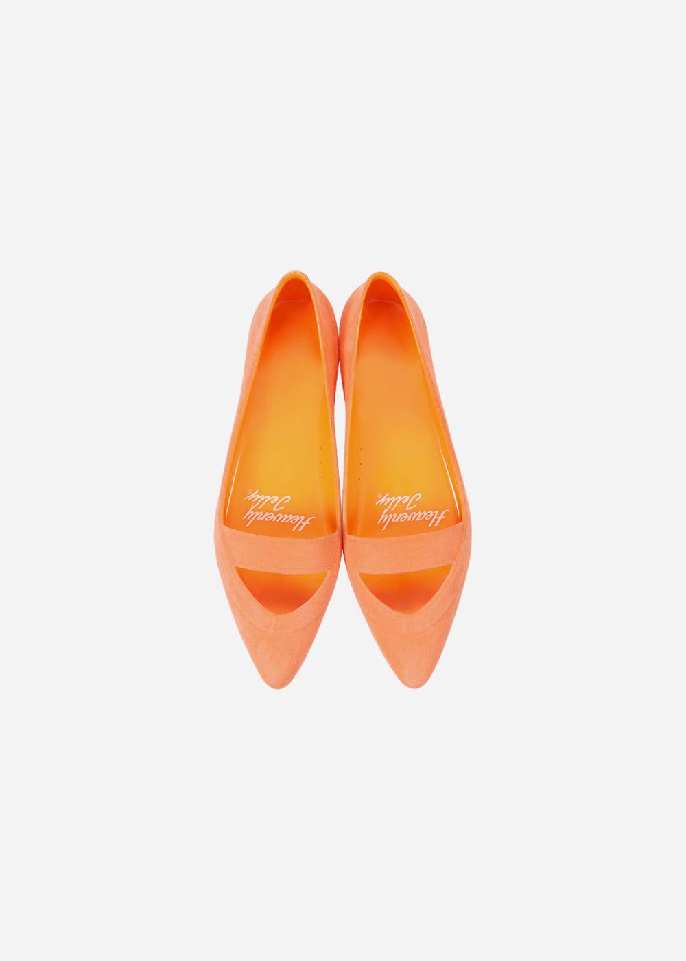 [Heavenly Jelly] Sleek Suede Pastel Tangerine