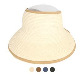 라인 배색 포인트 썬캡 모자 DCH-JAN380