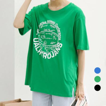 [네오쿠비카]빅사이즈 레터링 박시핏 티셔츠 WB629