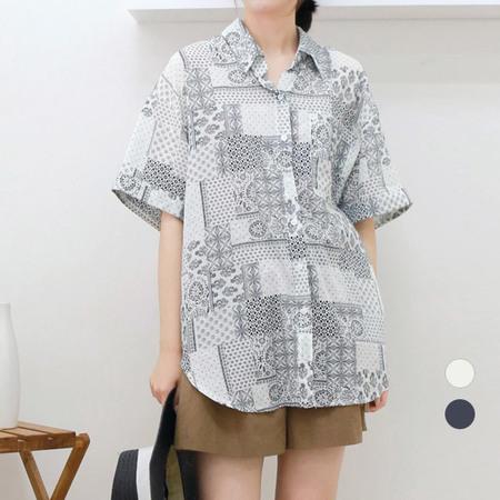 [네오쿠비카]빅사이즈 박시핏 카라 남방 셔츠 WB631