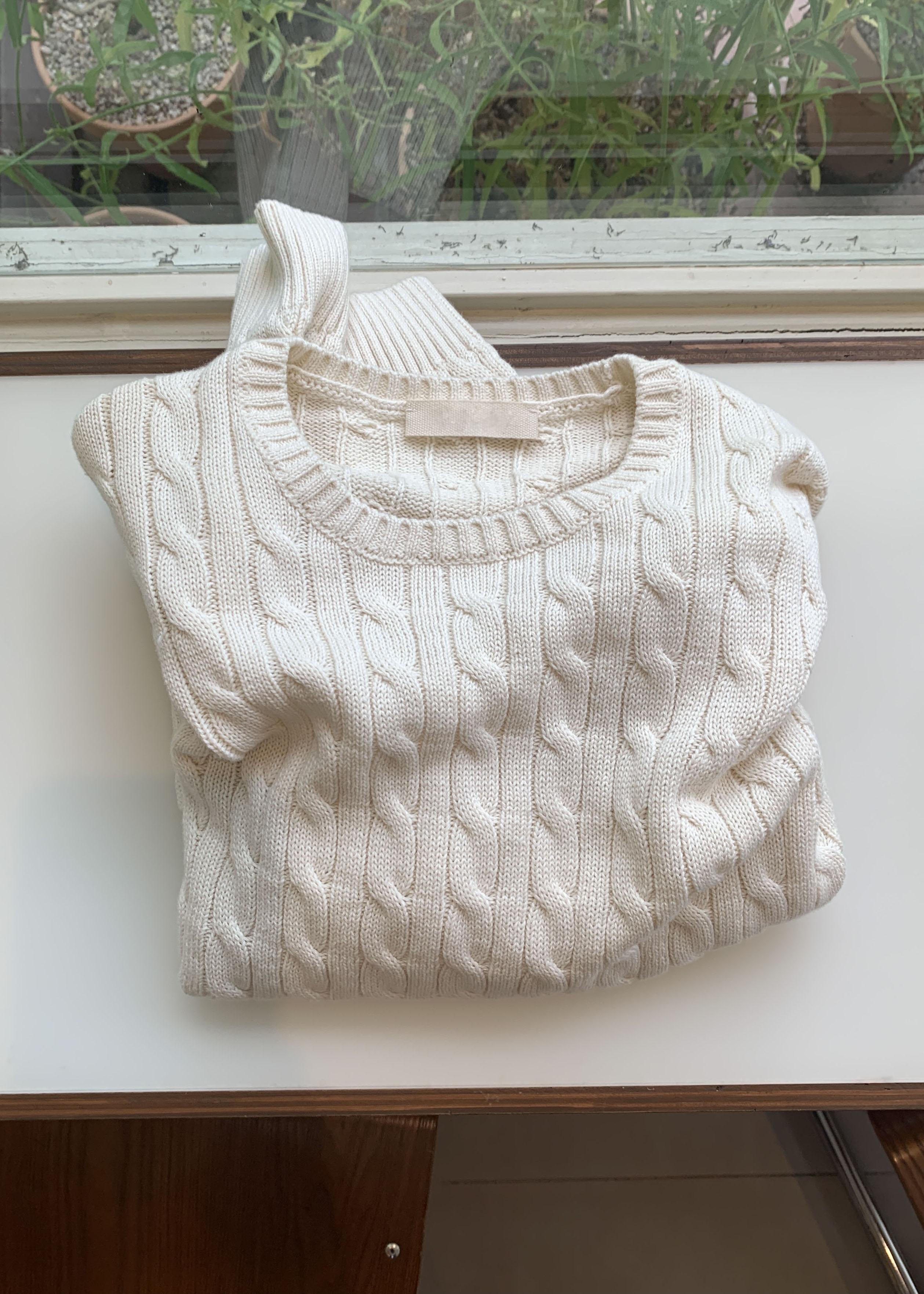 Cotton cable knit