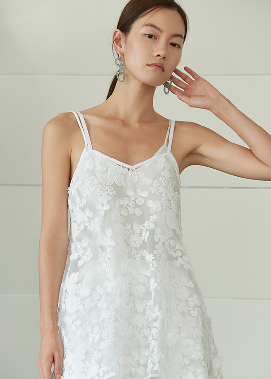 snow flower lace sleeveless top