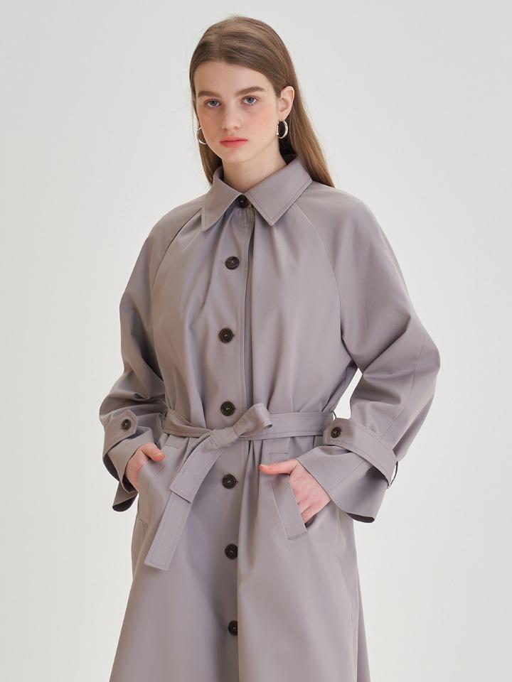 셔링 드레스 트렌치 코트 ( 모던그레이 )