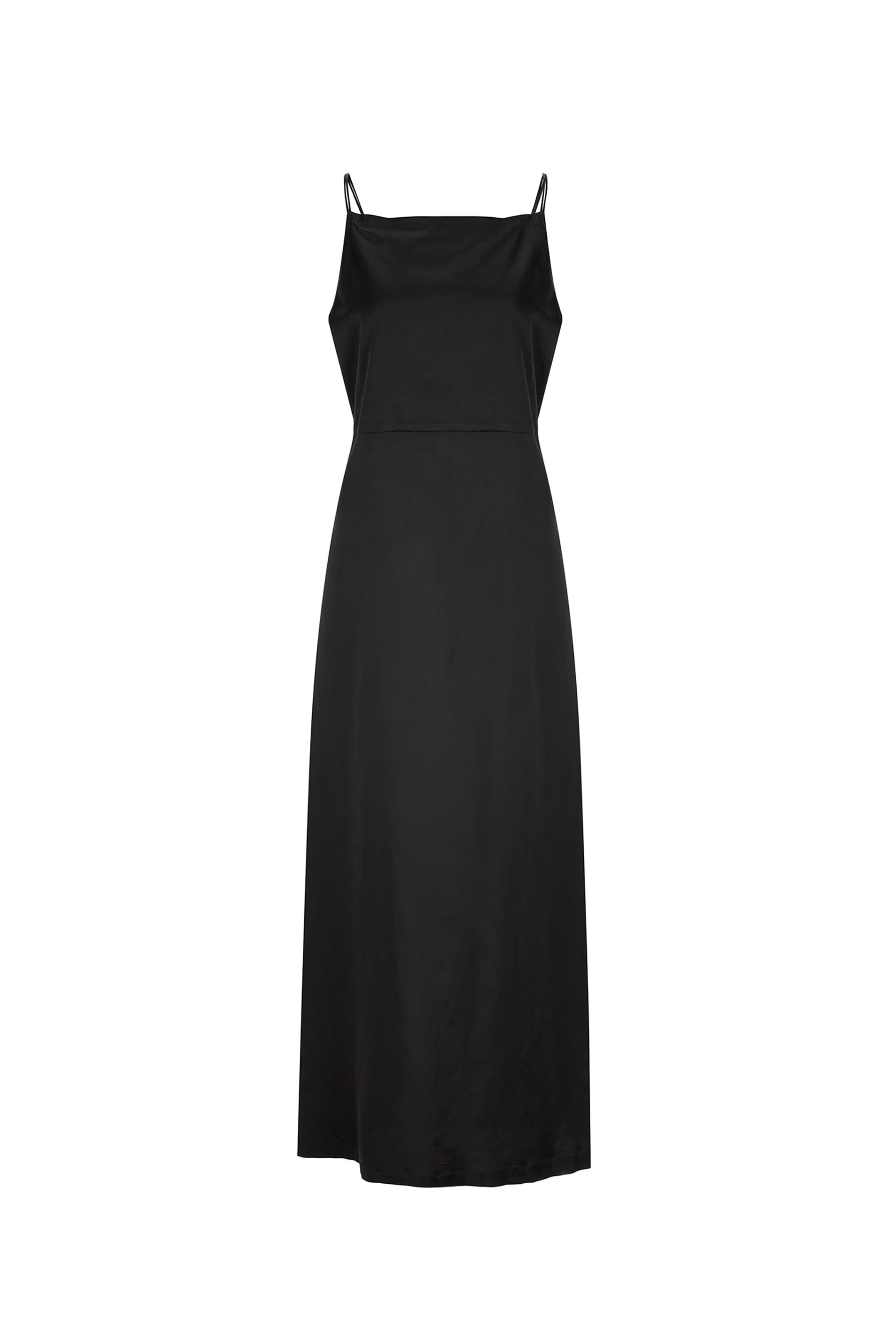 DOUBLE SLIP DRESS_BLACK