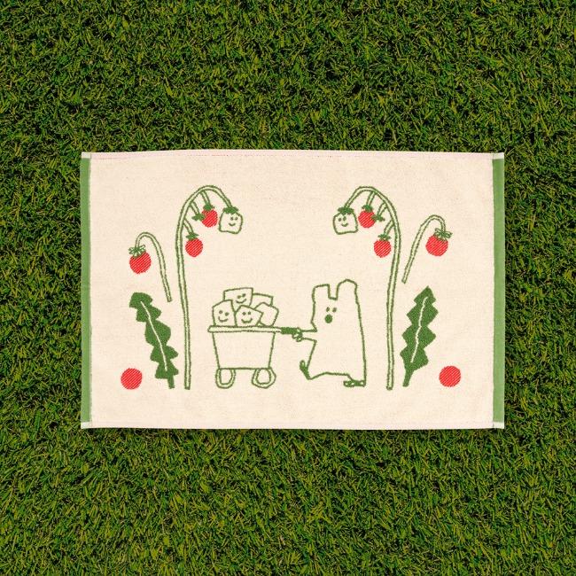 [다이노탱] Quokka and Veges Mini Rug