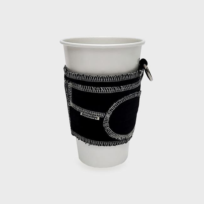 [표뵤뵤] 우주의 먼지 - 컵 감싸개 검정