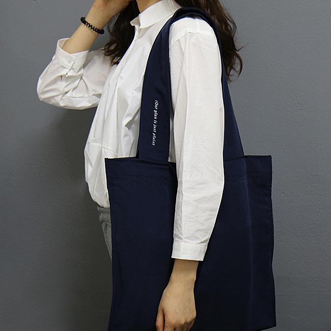 [얼그레이] Plain bag_navy