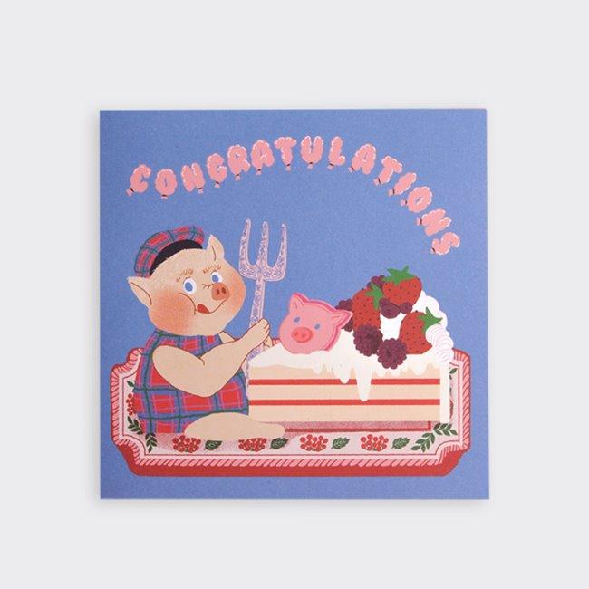 [소소문구] Cake Time Folding Card