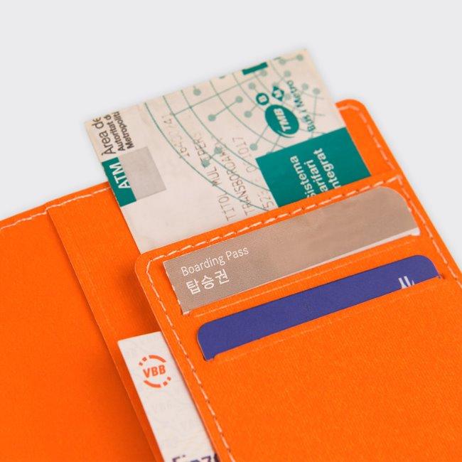 [소소문구] HAHAHA Passport Case : Tangerine