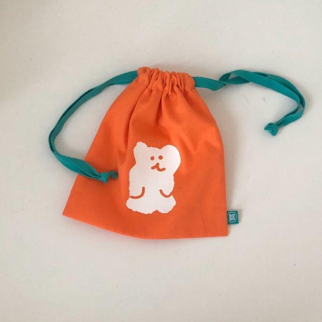 [다이노탱] Orange Bobo String Pouch