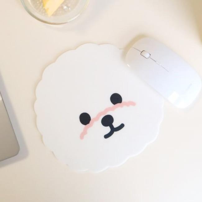 [달밤피크닉] 마우스패드(숑이 얼굴)