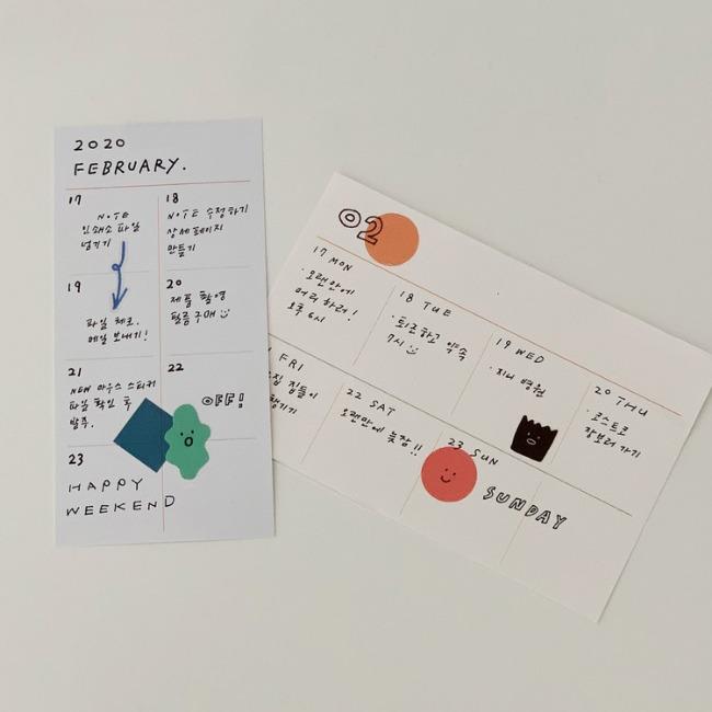 [ppp studio] weekly card