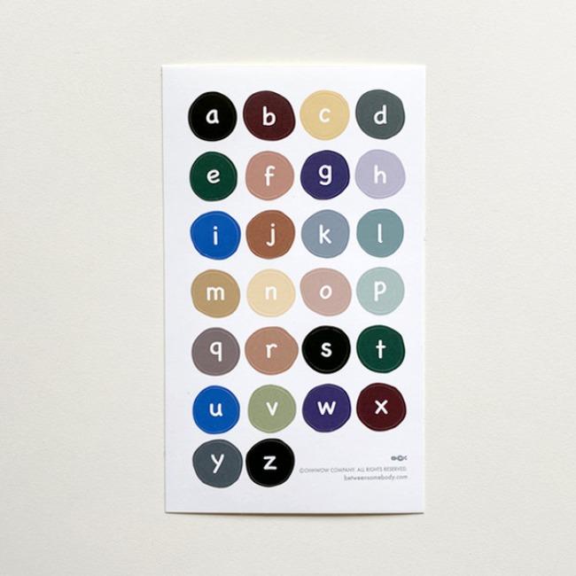 [도큐멘토] Full Color Alphabet Sticker