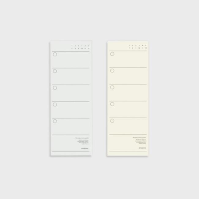 [공장] Weekday memo pad