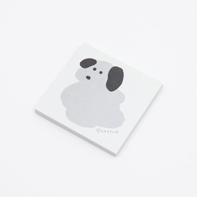 [희숲] 멍멍 친구들 점착메모지_콩이