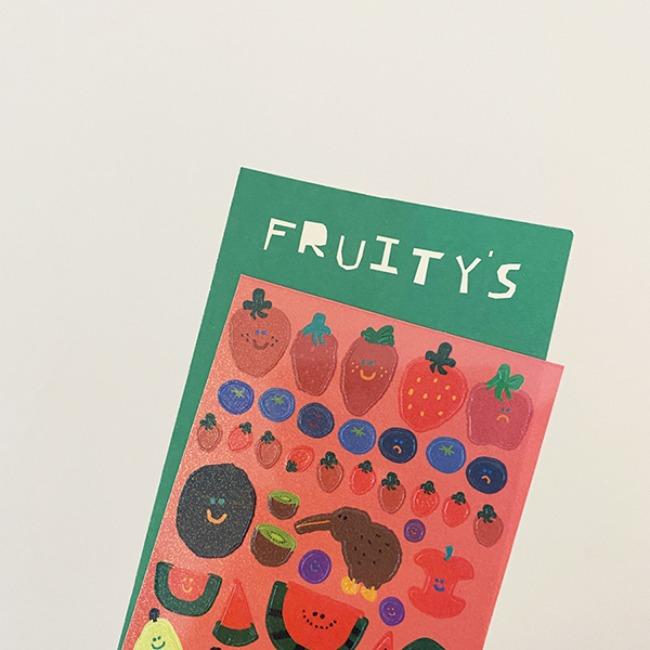 [다이노탱] Fruity's Glitter Sticker