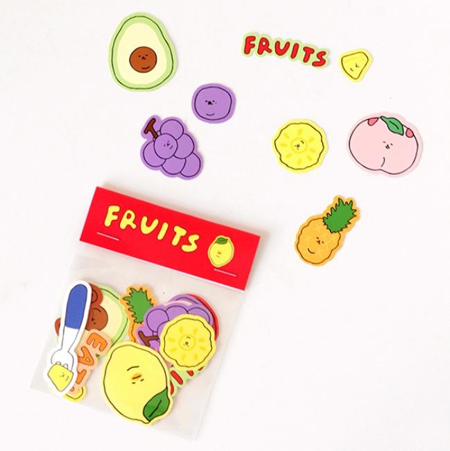 [쓰리먼쓰] 과일 조각 스티커팩