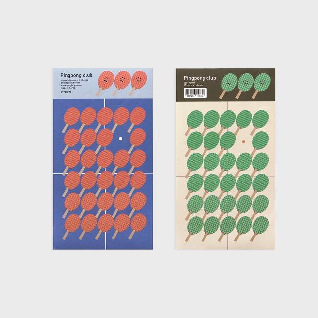 [공장] Pingpong club sticker set