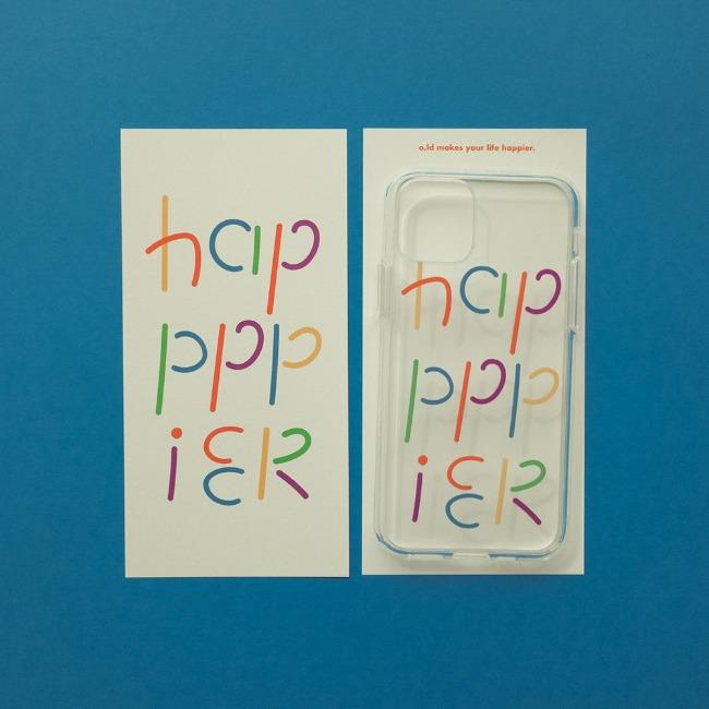 [오롤리데이] Phone case_Rainbow happpier