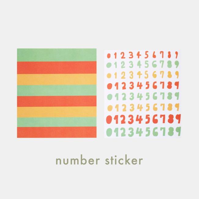 [ppp studio] number sticker