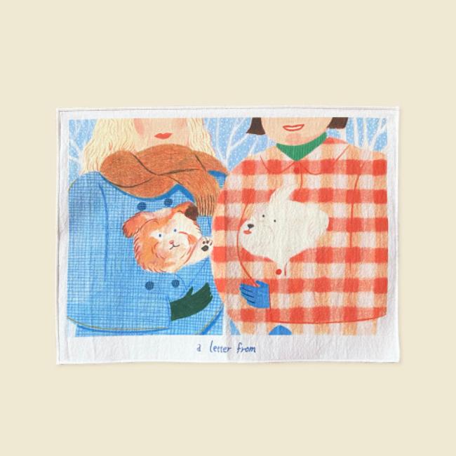 [어레터프롬] Hello buddy Fabric poster