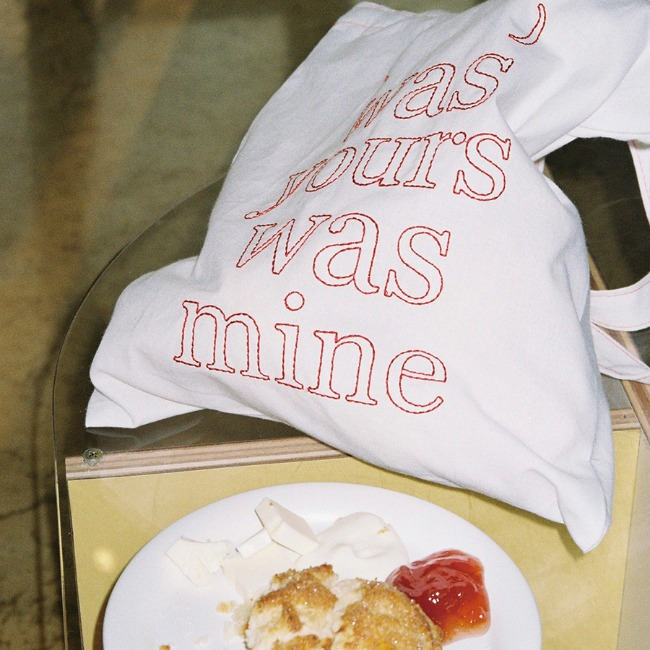 [was yours was mine] ( wywm ) cotton bag - RED