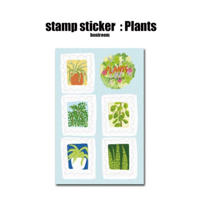 [보니룸] stamp sticker : plants