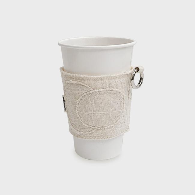 [표뵤뵤] 우주의 먼지 - 컵 감싸개 담갈색