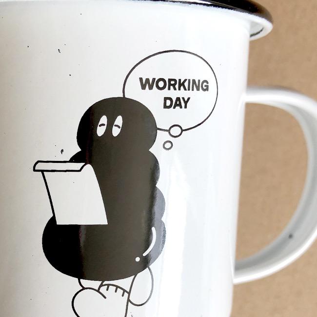 [오이웍스] [50%] Working Day! 법랑컵