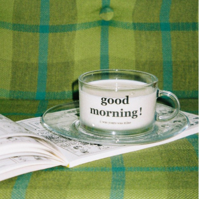 "[was yours was mine] ""good morning !"" flat mug set"