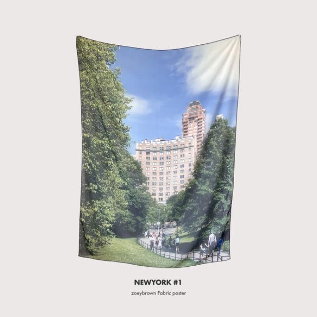 [조이브라운] Fabric poster : NEWYORK #1