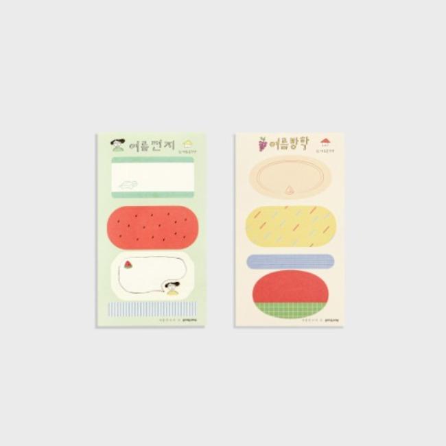 [여름문구사 x gongjang] Summer sticker set