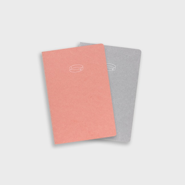 [공장] 22 HALF DIARY - Salmon, light gray