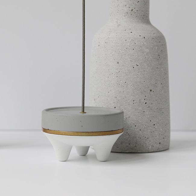 [오이뮤] Mini incense burner_gray