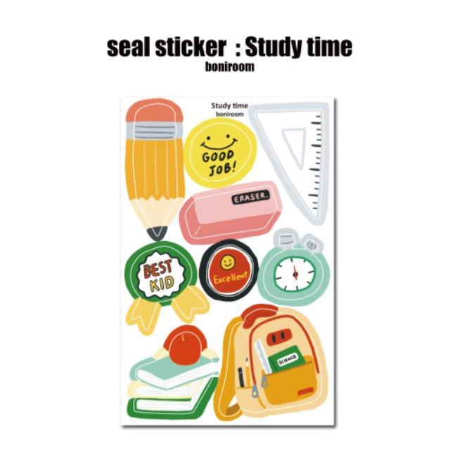 [보니룸] seal sticker : Study time