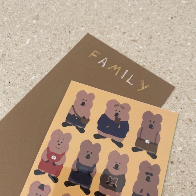 [다이노탱] We are Family Sticker